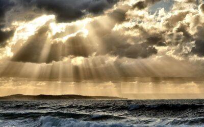 Sunshine Breaking Through Dark Clouds